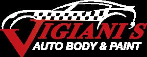 Vigianis Auto Body Logo White